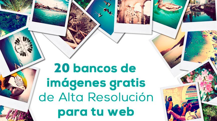 20 bancos de imágenes