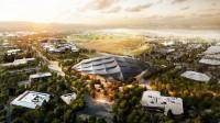 """Arquitectura corporativa, sedes corporativas, imagen virtual en 3D de la nueva sede de Google """"Mountain View Office Campus"""""""