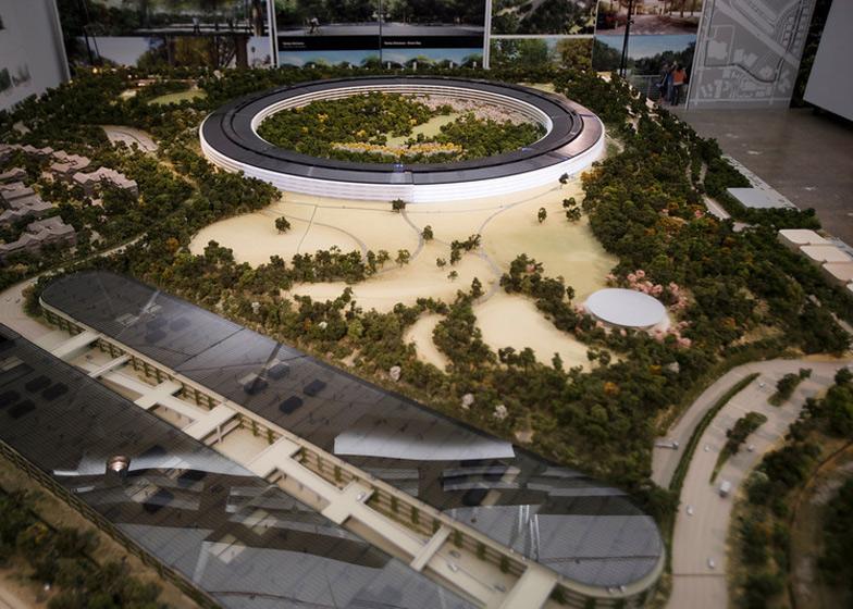Arquitectura corporativa, maqueta de la nueva sede de Apple en Cupertino California.