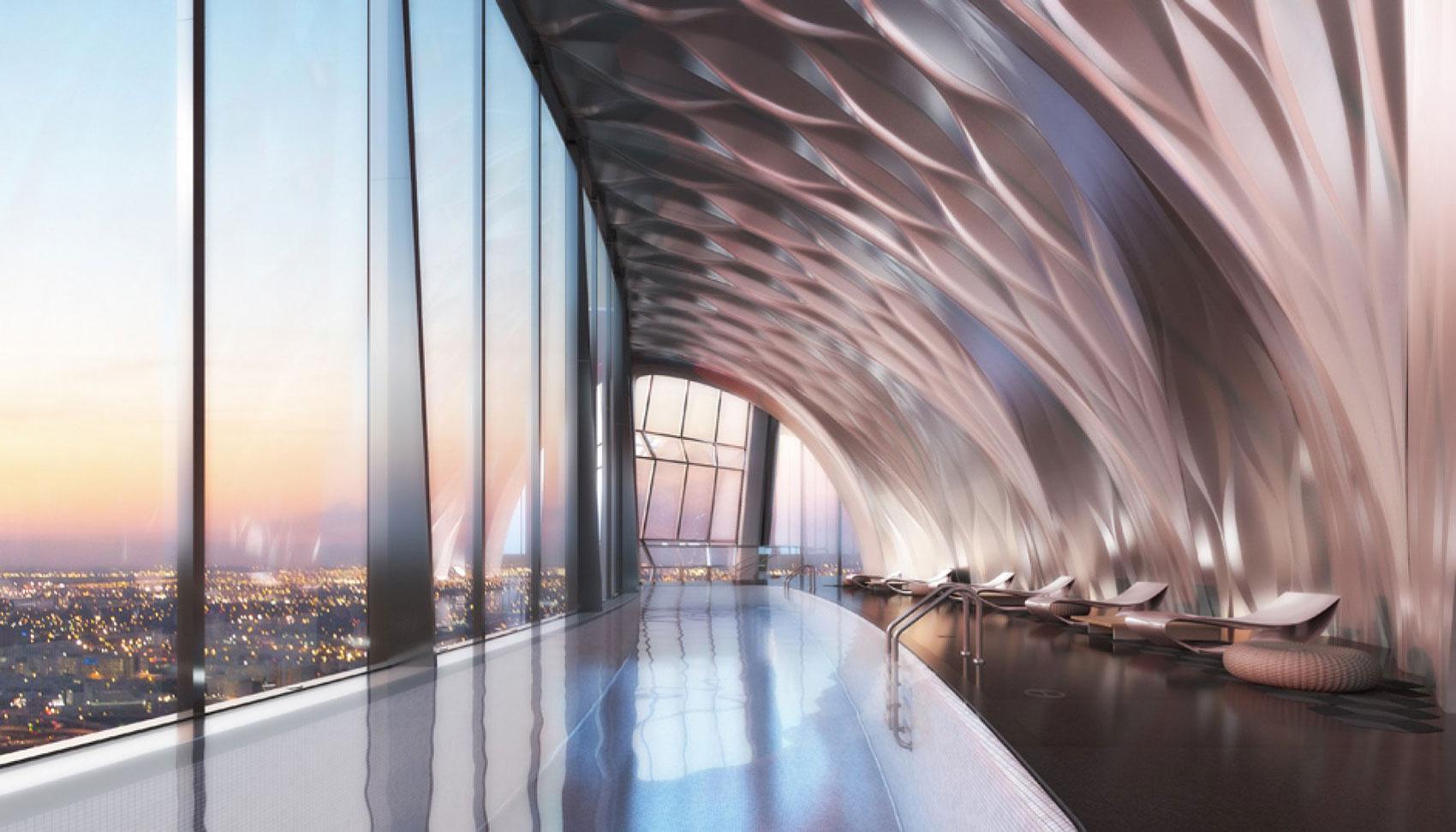 1000 Museum diseño de interiores realizado por la arquitecta Zaha Hadid