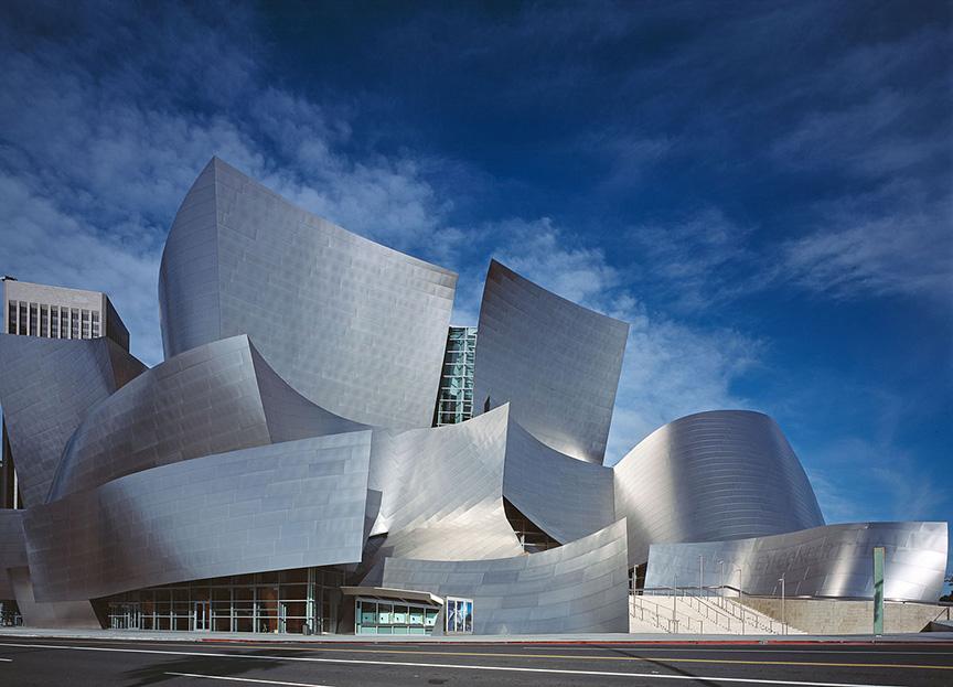 Sala de conciertos de Walt Disney de Los Angeles diseñada por Frank Gehry