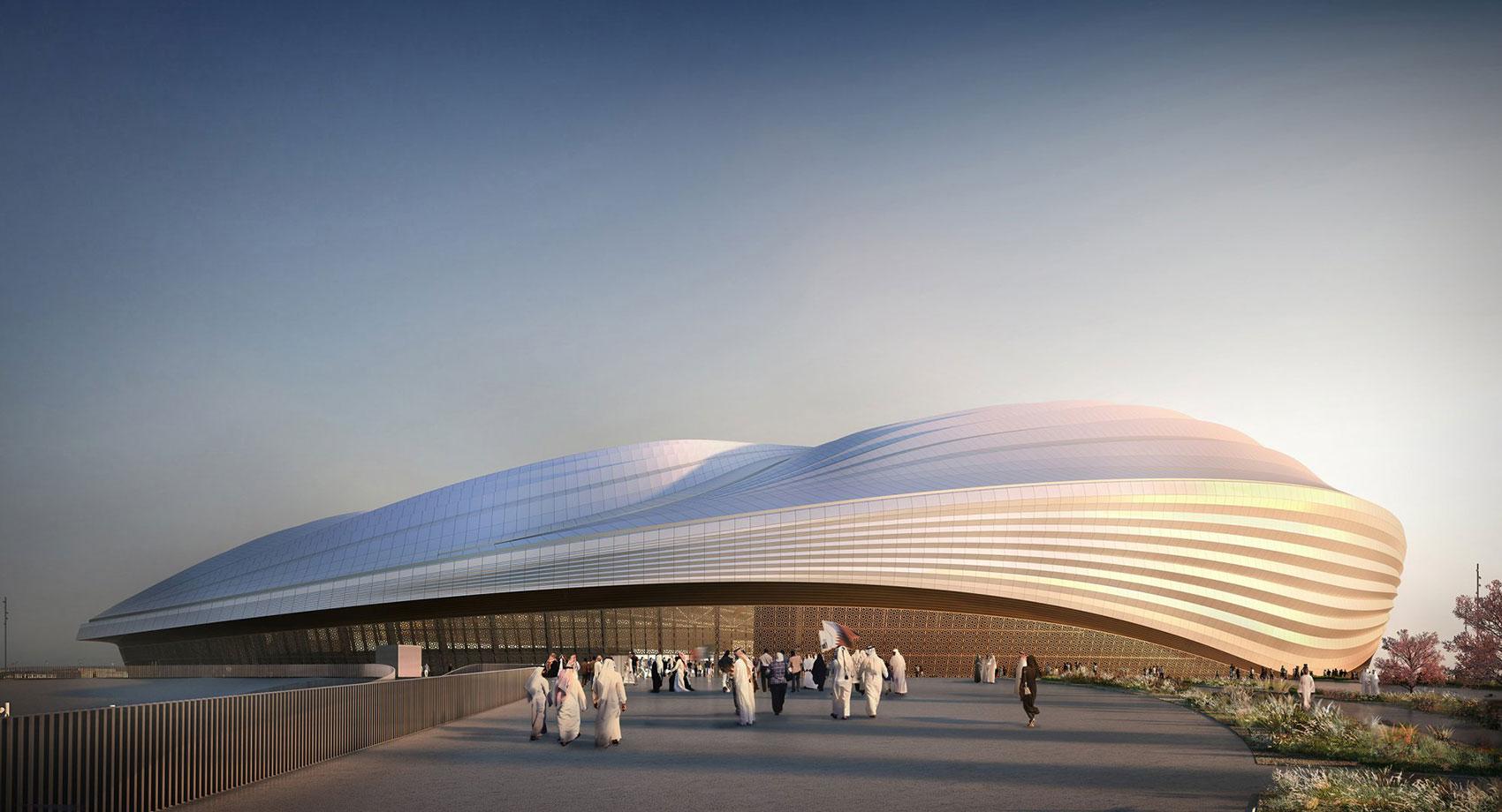 Stadium Al-Wakrah diseño arquitectónico paramétrico realizado por la arquitecta anglo-iraquí Zaha Hadid