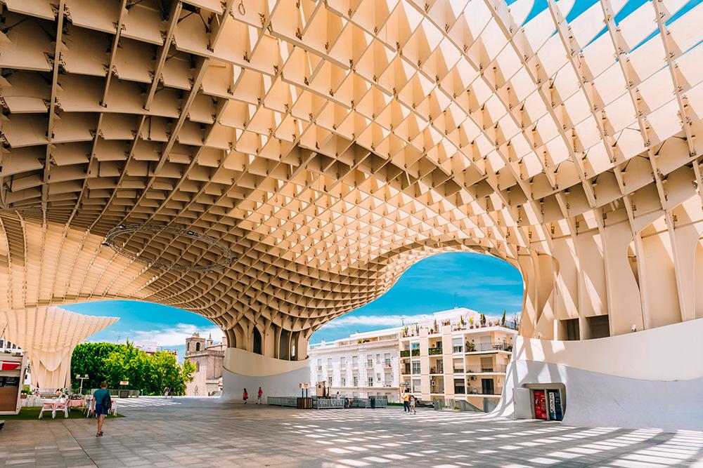 Proyecto de diseño paramétrico Jürgen Mayer Metropol Parasol en Sevilla, 2