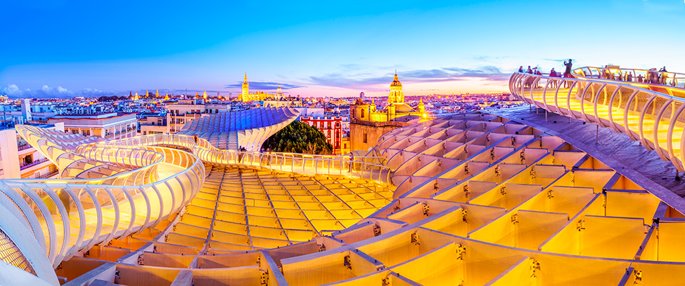 Proyecto de diseño paramétrico Jürgen Mayer Metropol Parasol en Sevilla, 3