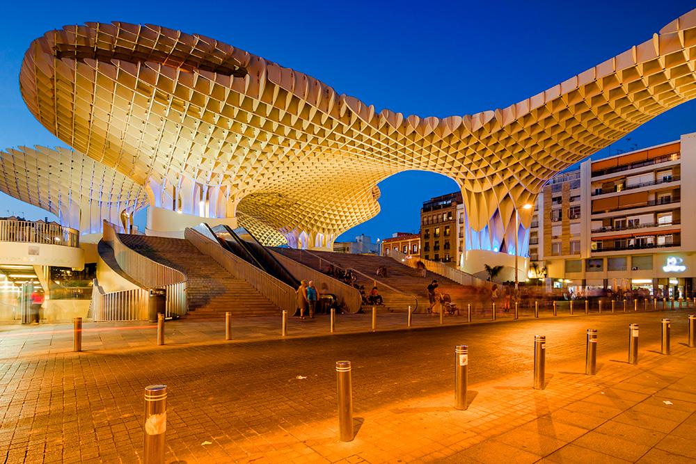Proyecto de diseño paramétrico Jürgen Mayer Metropol Parasol en Sevilla, 5