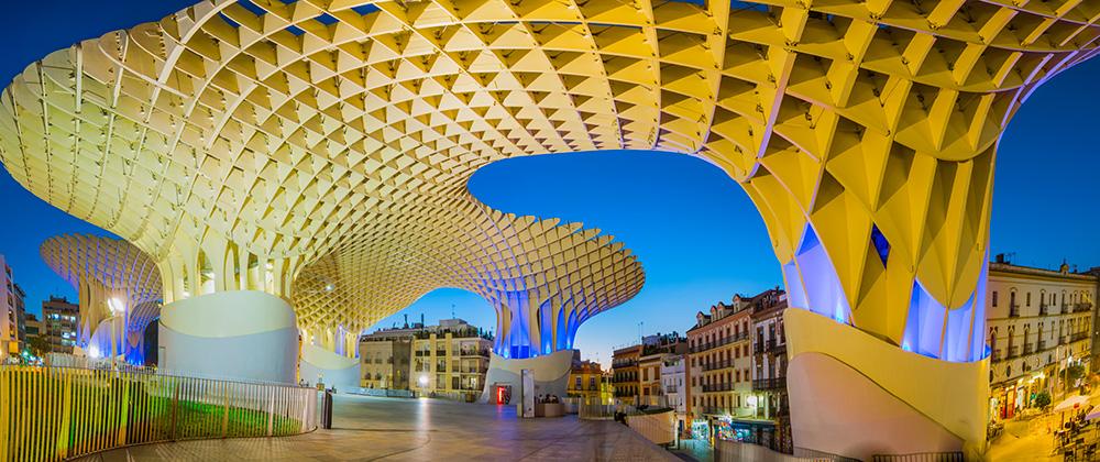 Proyecto de diseño paramétrico Jürgen Mayer Metropol Parasol en Sevilla, 6