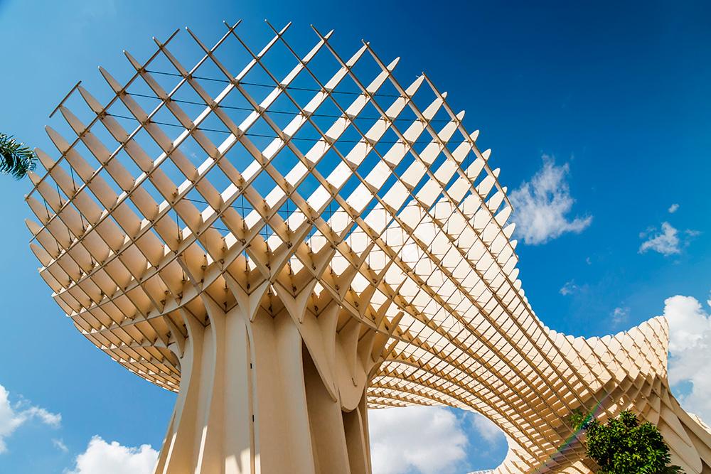 Proyecto de diseño paramétrico Jürgen Mayer Metropol Parasol en Sevilla, 1