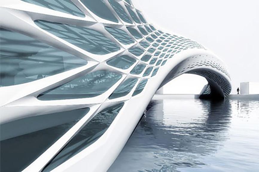 Diseño paramétrico futurista