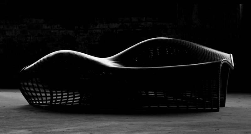 Drift profile, banco de diseño paramétrico realizado por el diseñador américano Matthias Pliessing