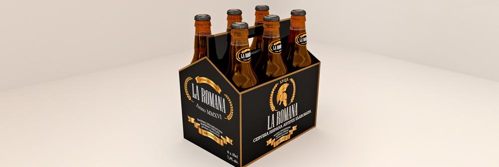 Diseño packaging marca de cerveza La Romana