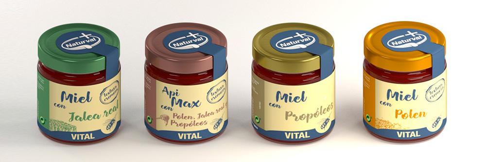 Diseño packaging marca de miel Naturval, imagen 2