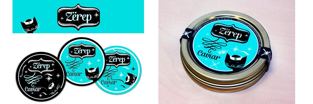Diseño packaging marca caviar Zerep