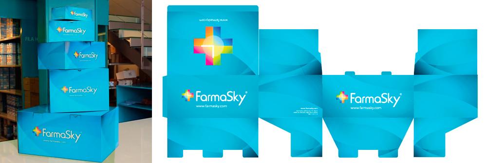 Diseño packaging marca FarmaSky