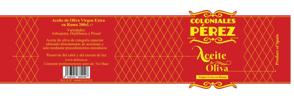 Diseño packaging marca de aceite de Oliva