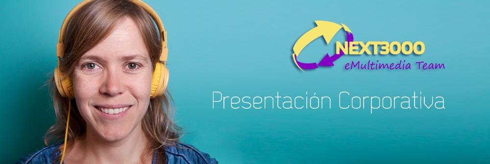 Ejemplo de presentación corporativa multimedia