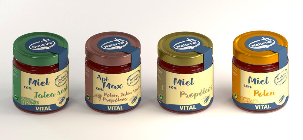 Diseño de imagen corporativa marca naturval, diseño de la línea de envases y etiquetas.