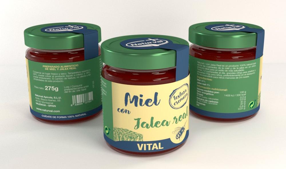Diseño de imagen corporativa, marca naturval, diseño de etiquetas, diseño de packaging miel con jalea