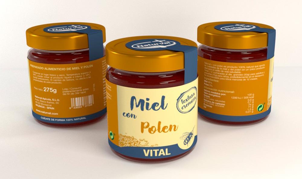 Diseño de imagen corporativa, marca naturval, diseño de etiquetas, diseño de packaging miel con polen