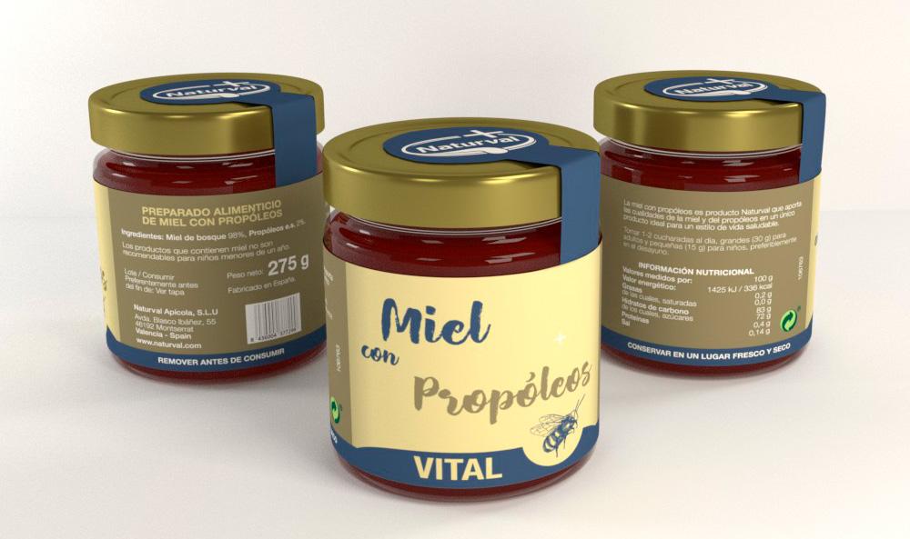 Diseño de imagen corporativa, marca naturval, diseño de etiquetas, diseño de packaging miel con propóleos