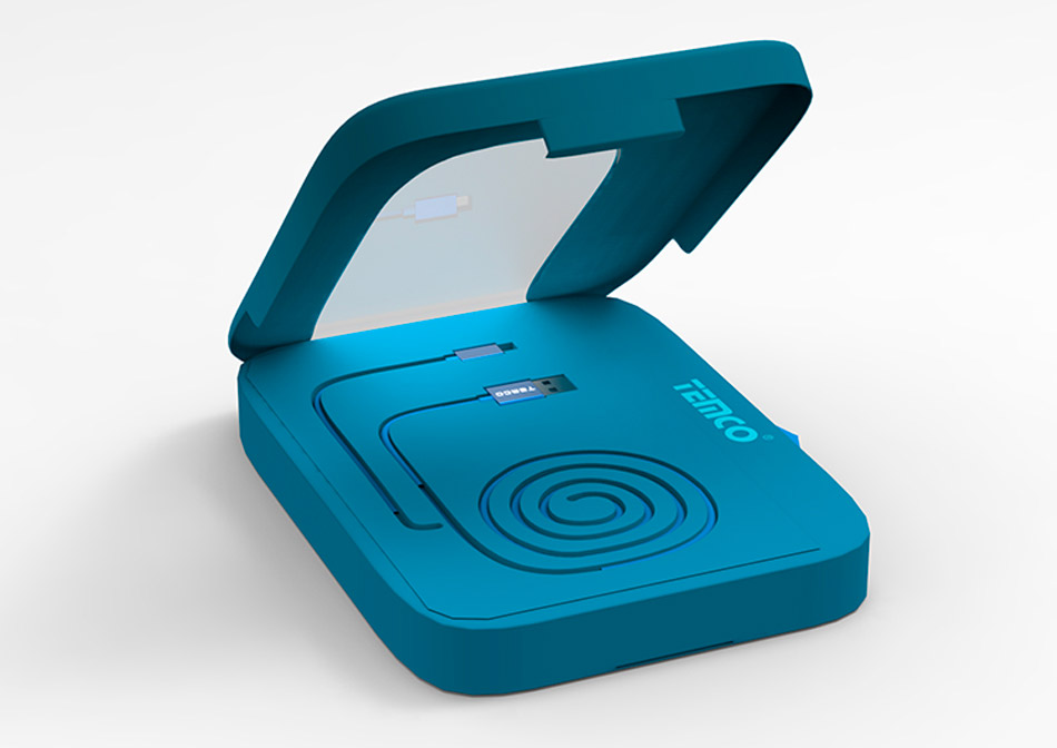 Diseño de producto caja packaging consumibles informáticos nº2