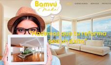 Proyecto diseño página web y branding realizado para Bamvu Make! en el estudio de diseño LN Creatividad y Tecnología