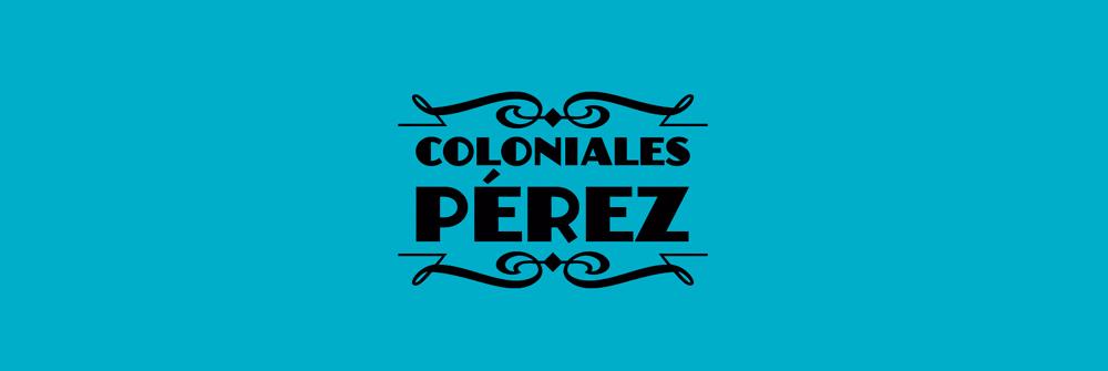Diseño logotipo Coloniales Pérez