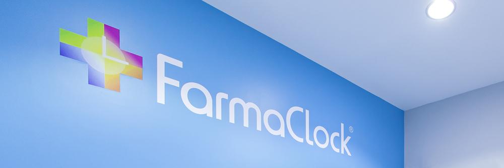 Diseño de identidad corporativa realizado para FarmaClock