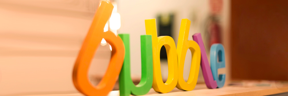 Diseño de identidad corporativa realizado para Bubble