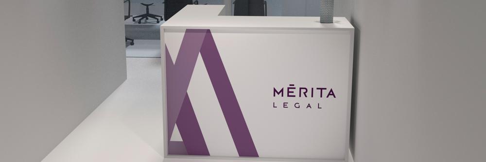 Diseño de identidad corporativa realizado para Mérita Legal