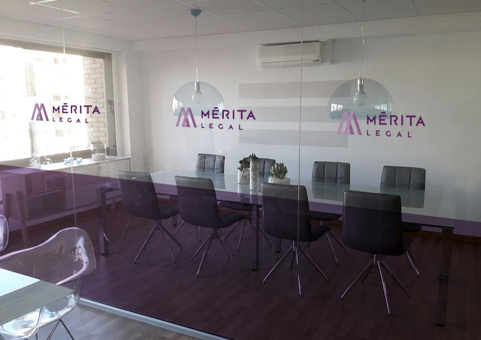 Diseño de imagen corporativa despacho de abogados Merita Legal