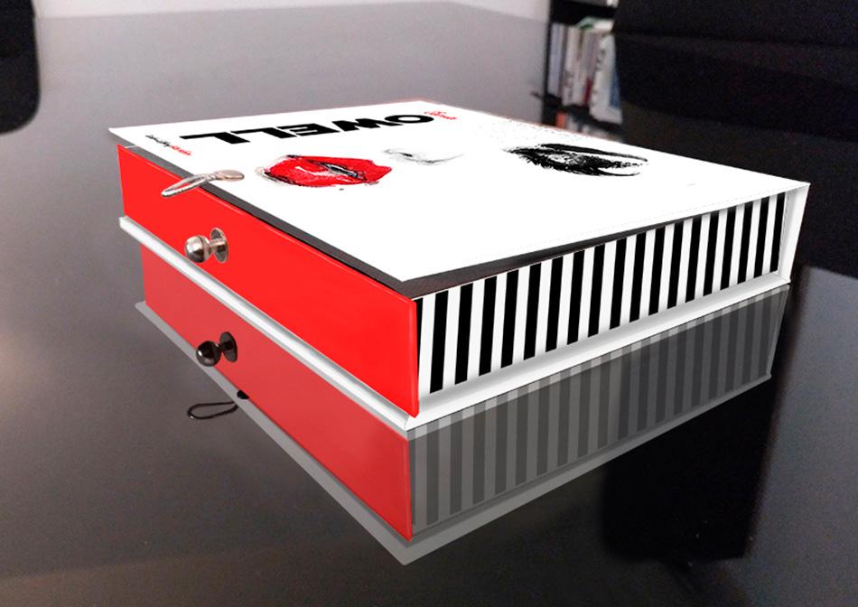 Diseño de caja Lash Lifting Keratin de Seena Owell, vista 4