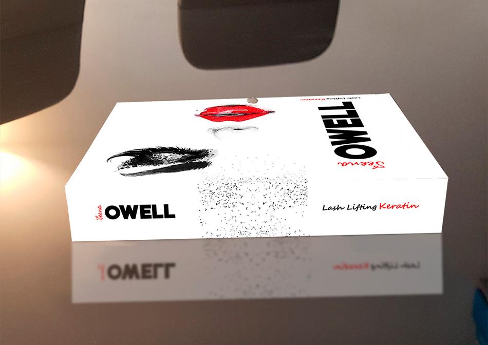 Diseño de caja Lash Lifting Keratin de Seena Owell, vista 5