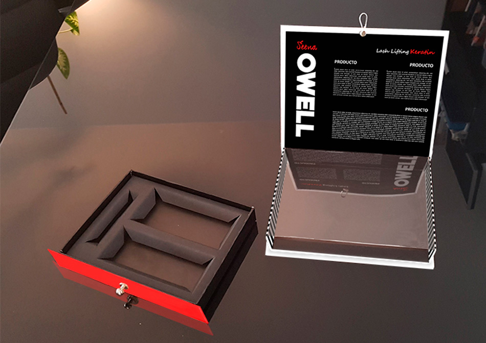 Diseño de caja Lash Lifting Keratin de Seena Owell, vista 6