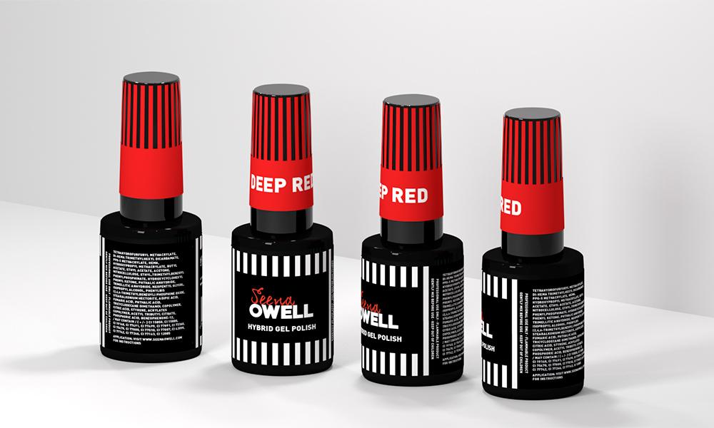 Diseño de producto Frasco Esmalte de uñas Seena Owell