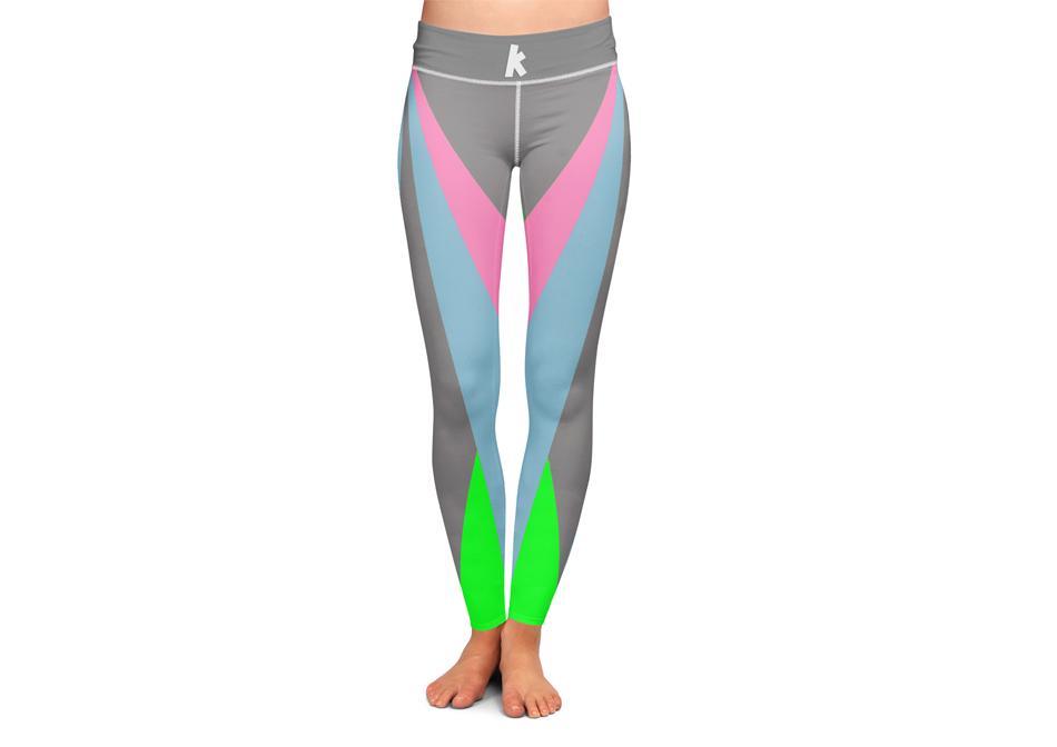 Diseño gráfico aplicado a la imagen corporativa de Skal Center, diseño de leggins de entrenamiento