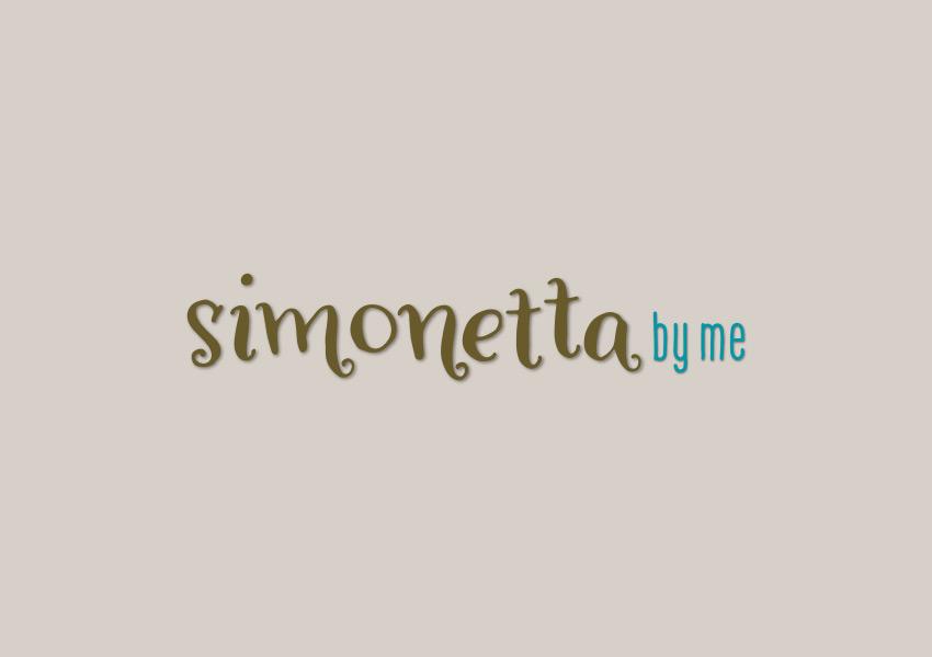 Otra variante con fondo de textura del logotipo de Simonetta by me