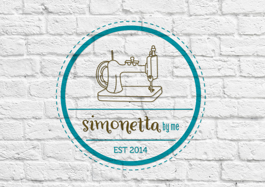 Variaci?n con m?quina de coser del logotipo de Simonetta by me