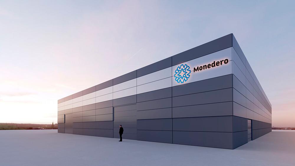 Proyecto de arquitectura corporativa, Diseño Nave Auto Comercial Monedero en Motilla del Palancar, Cuenca. Imagen virtual en 3D nº1