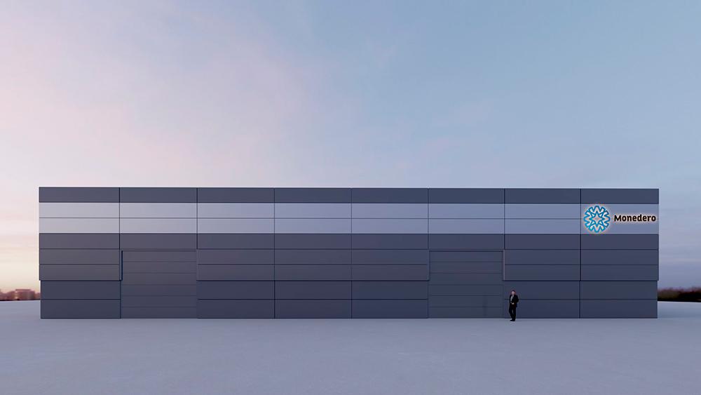 Proyecto de arquitectura corporativa, Diseño Nave Auto Comercial Monedero en Motilla del Palancar, Cuenca. Imagen virtual en 3D nº4