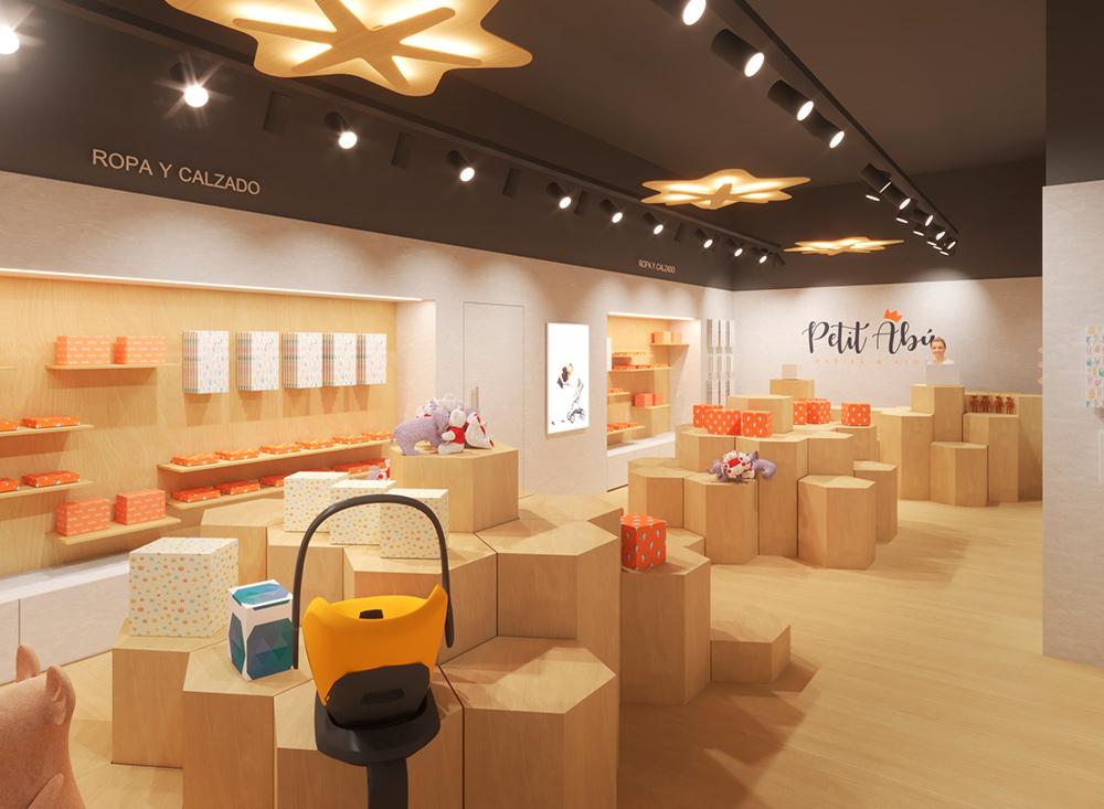 Infografía en 3D, imagen virtual diseño de arquitectura corporativa, diseño de tienda infantil, imagen nº 3