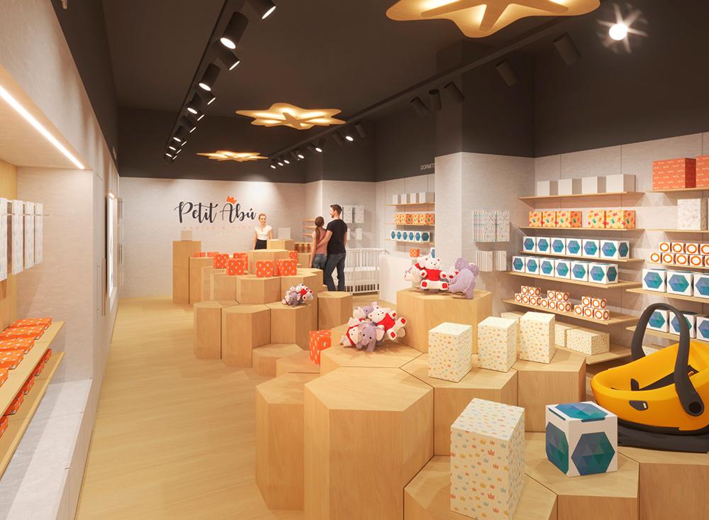 Infografía en 3D, imagen virtual diseño de arquitectura corporativa, diseño de tienda infantil, imagen nº 4