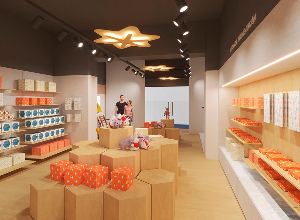 Infografía en 3D, imagen virtual diseño de arquitectura corporativa, diseño de tienda infantil, imagen nº 7