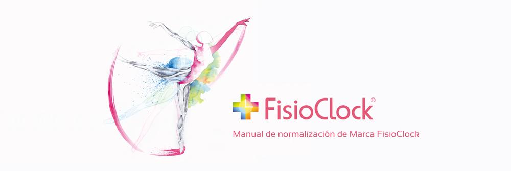 Diseño manual de identidad corporativa FisioClock