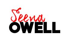 Identidad corporativa, diseño del logotipo de la marca Seena Owell en versión horizontal sobre fondo blanco, imagen corporativa de la marca seena owell.