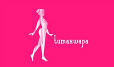 Identidad corporativa, diseño del logotipo de Tumaxwapa en versi�n horizontal sobre fondo blanco, diseño de imagen corporativa Tumaxwapa.