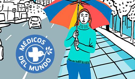 Proyecto de diseño gráfico realizado para Campaña de comunicación de Médicos del Mundo